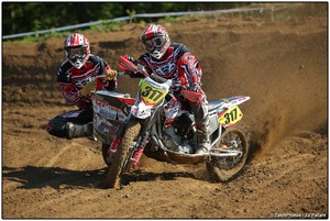 Pneus maxxis montés en side car cross