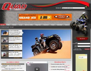 Publicité sur le monde du quad